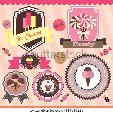 sweet set. vector illustration - stock vector