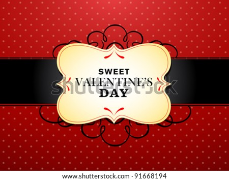 Sweet Valentine's Day - stock vector