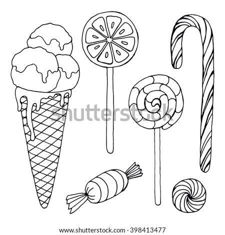 sweets candies ice cream lollipop cane stock vector royalty free