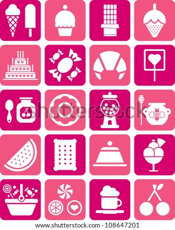 Sweets icons - stock vector