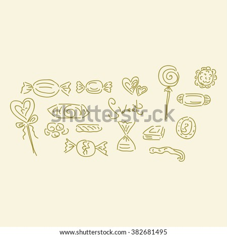 Sweets set vector illustration - stock vector