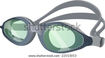 Swimming Goggles Vector Swim Goggles Stock Vector