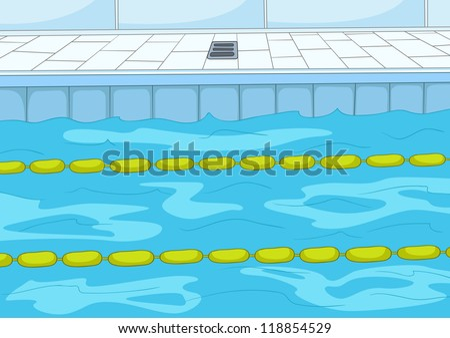 swimming pool cartoon background vector illustration eps 10