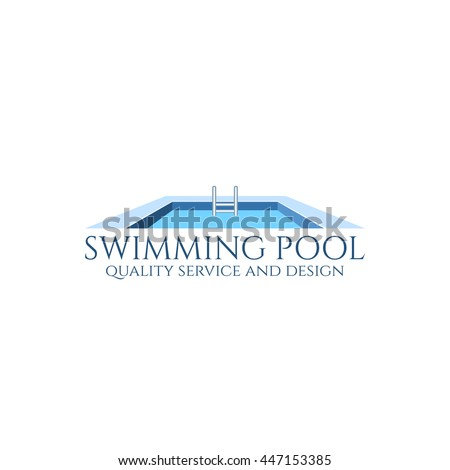 Swimming Pool Service And Design Logo. Vector Illustration.