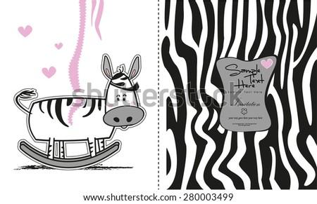 Swing Baby girl shower invitation. Arrival card. - stock vector