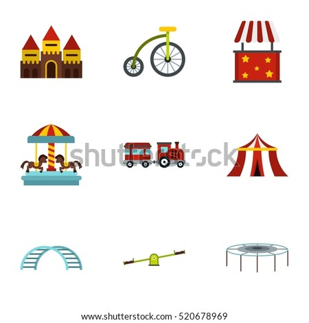 Swing icons set. Flat illustration of 9 swing vector icons for web
