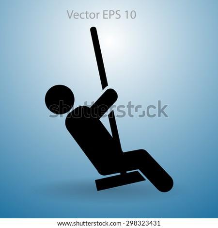 swing vector icon - stock vector