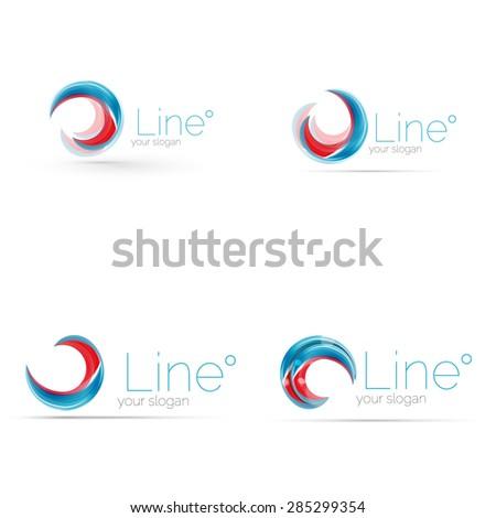 Swirl Blue Red Company Logo Design Stock Photo (Photo, Vector ...