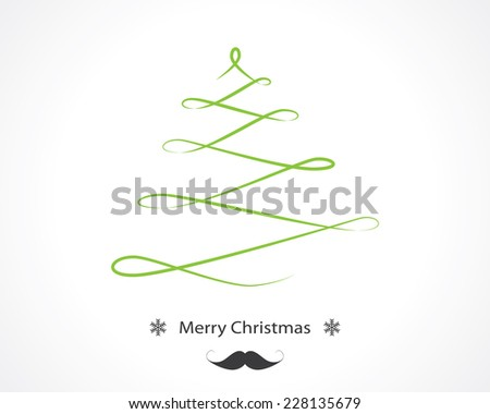 swirl christmas tree - stock vector