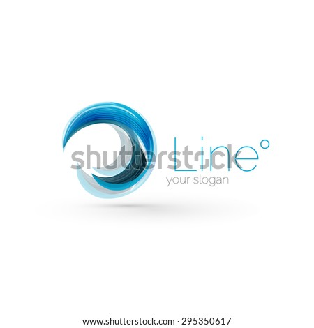 swirl company blue logo design universal for all ideas and concepts business creative icon