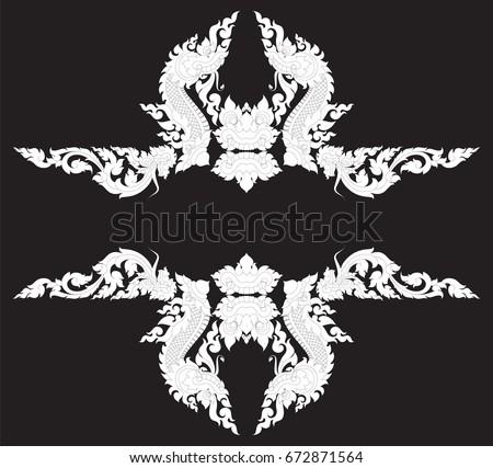 Swirl Doodle Tribal Naga Head Monster Stock Vector Hd Royalty Free