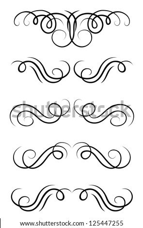 Swirl elements and retro monograms for design and decorate. Jpeg version also available in gallery - stock vector