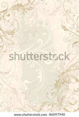 Swirl floral background design - stock vector