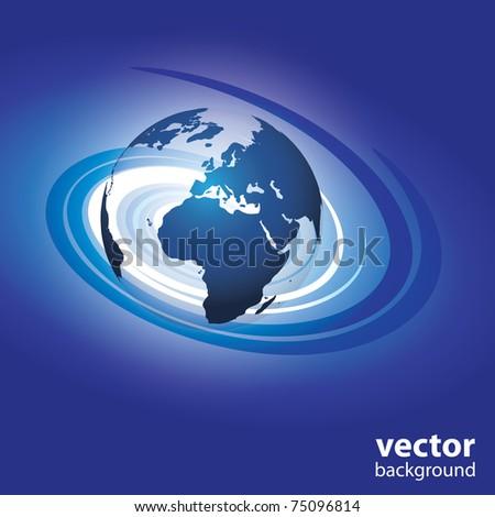 Swirl globe vector - stock vector