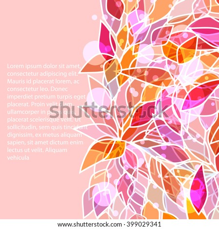 swirl  l floral frame for your design - stock vector