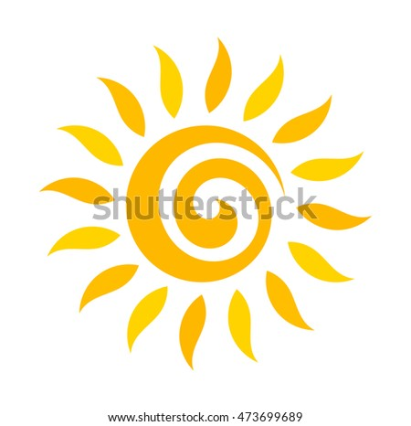 Swirl sun icon. Vector illustration