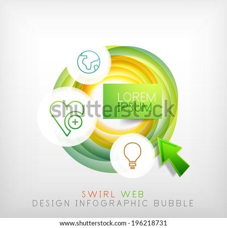 swirl web design infographic bubble flat stock vector 196218731