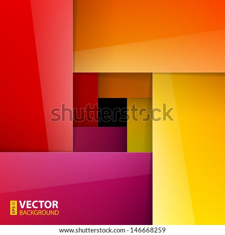 Swirly colorful paper background. RGB EPS 10 vector illustration - stock vector