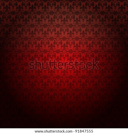 Swirly floral. Vector Background. - stock vector