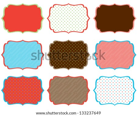 Swirly Holiday Frames - stock vector