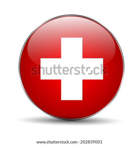 Swiss flag - stock vector