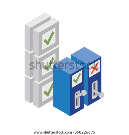 Switch Isolated on white background. ON and OFF positions.Vector illustration. - stock vector