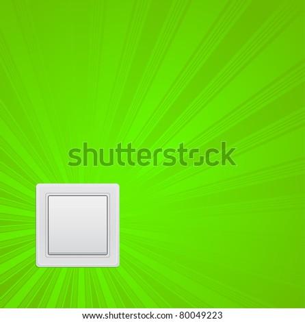 switcher - green power concept - stock vector