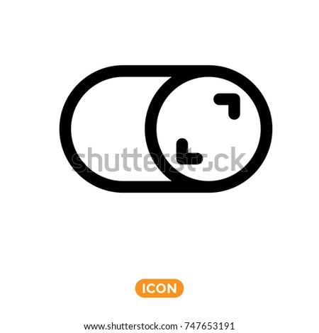 Switcher Vector Symbol Flat Style Icon Stock Vector 747653191