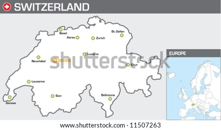 Switzerland - stock vector