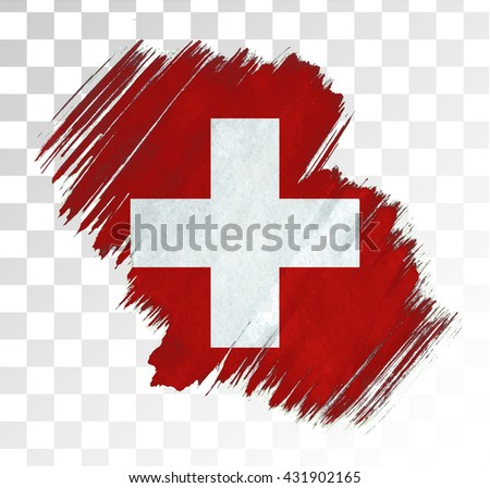 switzerland grunge flag. Vector illustration. - stock vector