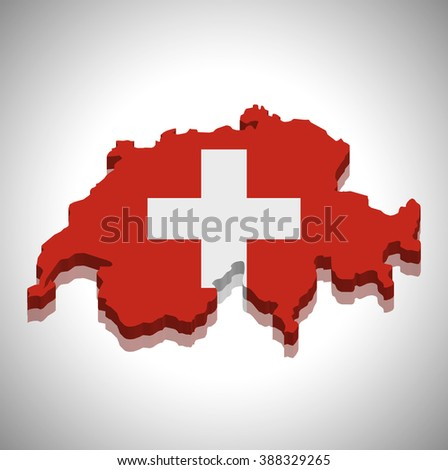 Switzerland - map and flag