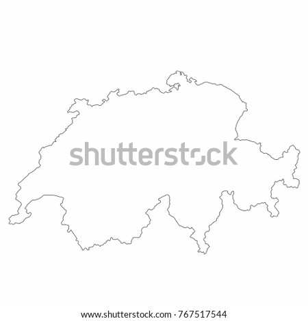 Switzerland world map country outline graphic stock vector 767517544 switzerland world map country outline in graphic design concept gumiabroncs Choice Image
