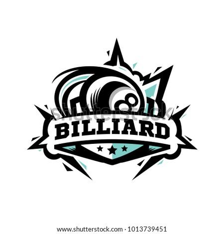 Billiards Pool Logo 1 Eight 8 Nine 9 Ball Stick Cue Sports ...   Billiards Logo