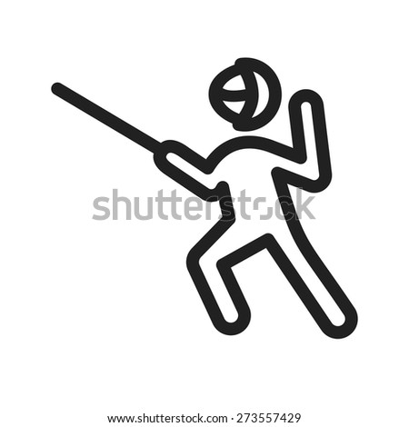 Sword fighting, sword, shield, blade icon vector image. Can also be used for sports, fitness, recreation. Suitable for web apps, mobile apps and print media. - stock vector