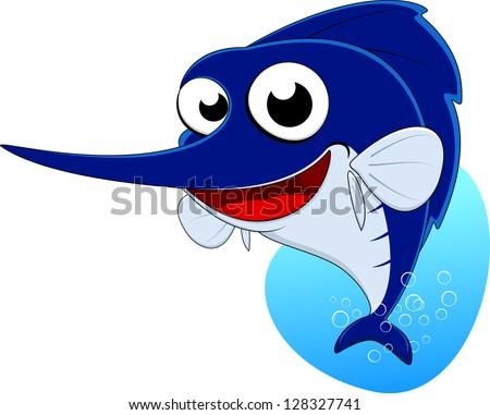 Sword Fish ,Blue Marlin Fish - stock vector