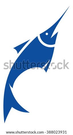 Sword fish vector icon
