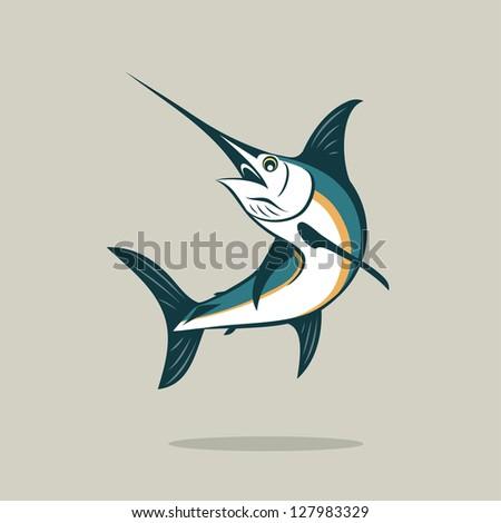 Sword fish - vector illustration - stock vector