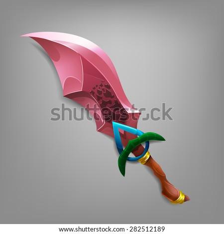 Sword game. Vector illustration. - stock vector