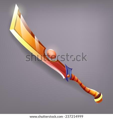 Sword game. Vector illustrations. - stock vector