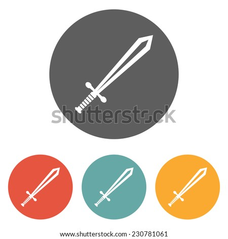 sword icon - stock vector