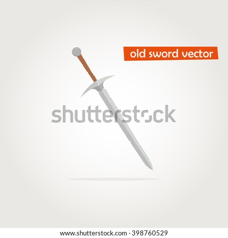 Sword Icon Vector. Old sword vector. Sword Icon JPEG. Sword Icon Object. Sword Icon Picture. Sword Icon Image. Sword Icon Graphic. Sword Icon Art. Sword Icon JPG. Sword Icon EPS. Sword Icon Drawing - stock vector