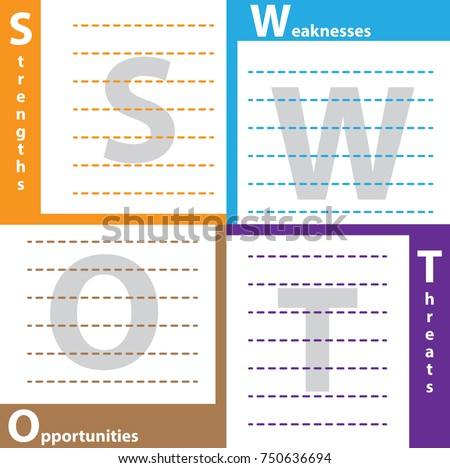 swot table template