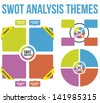 SWOT Analysis Themes Vector - stock vector