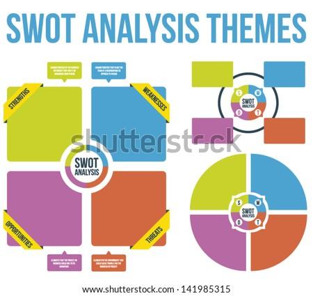 SWOT Analysis Themes Vector - stock vector