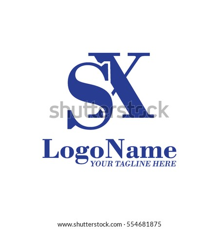 Stock Vector Sx Logo Initial Monogram Ft