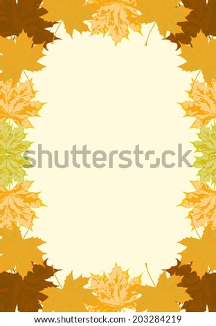 sycamore leaf frame vector art