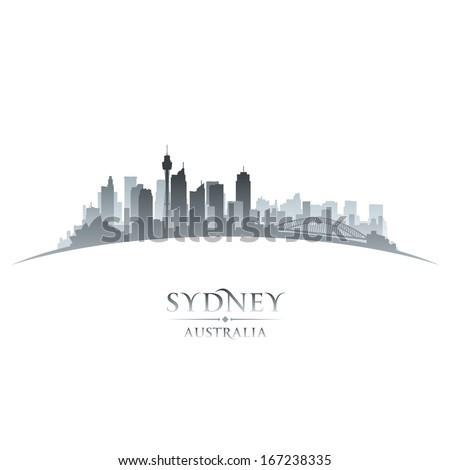 Sydney Australia city skyline silhouette. Vector illustration - stock vector