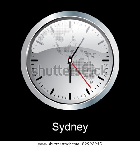 Sydney clock. - stock vector