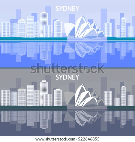 Sydney is the state capital of New South Wales and the most populous city in Australia and Oceania. Houses built in the metropolis, located on the ocean. City of Sydney.