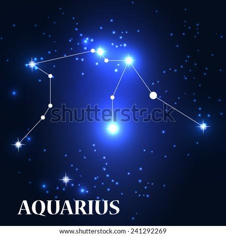 Symbol: Aquarius Zodiac Sign. Vector Illustration. EPS10 - stock vector